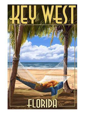 Key West, Florida - Hammock Scene by Lantern Press