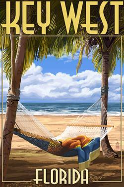 Key West, Florida - Hammock Scene by Lantern Press