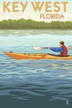 Key West, Florida - Kayaker by Lantern Press