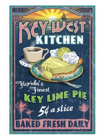 Key West, Florida - Key Lime Pie by Lantern Press