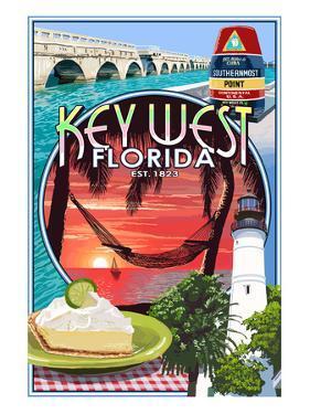 Key West, Florida - Montage by Lantern Press