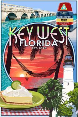 Key West, Florida - Montage by Lantern Press