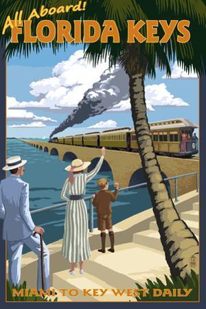 Key West, Florida - Railroad by Lantern Press