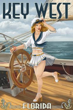 Key West, Florida - Sailor Pinup by Lantern Press