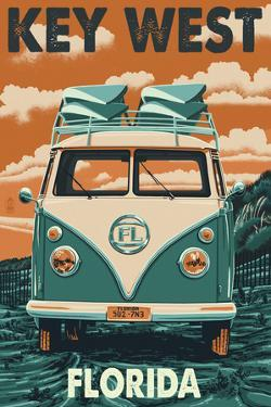 Key West, Florida - VW Van by Lantern Press