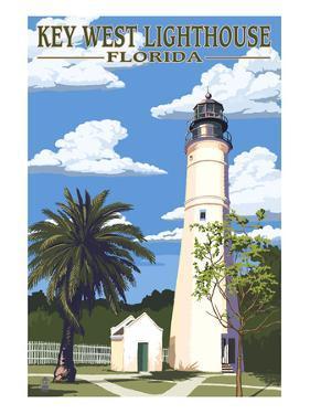 Key West Lighthouse, Florida Day Scene by Lantern Press