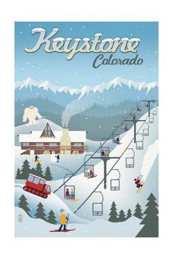 Keystone, Colorado - Retro Ski Resort by Lantern Press