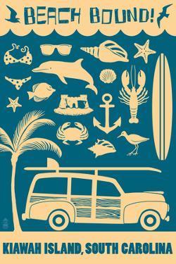 Kiawah Island, South Carolina (#2) - Coastal Icons by Lantern Press