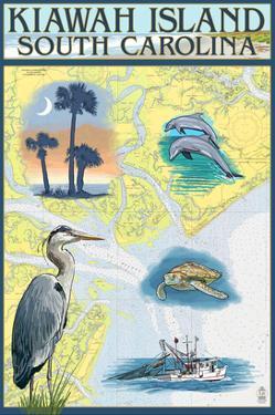Kiawah Island, South Carolina - Nautical Chart by Lantern Press