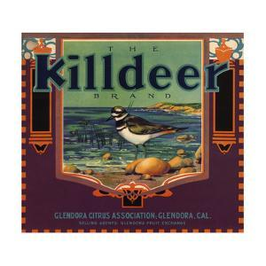 Killdeer Brand - Glendora, California - Citrus Crate Label by Lantern Press