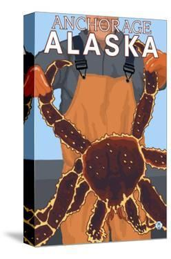 King Crab Fisherman, Anchorage, Alaska by Lantern Press