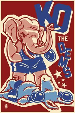 Knock Out the Dems - Political by Lantern Press