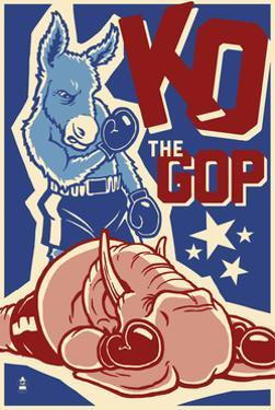 Knock Out the GOP - Political by Lantern Press