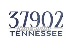 Knoxville, Tennessee - 37902 Zip Code (Blue) by Lantern Press