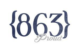 Knoxville, Tennessee - 863 Area Code (Blue) by Lantern Press