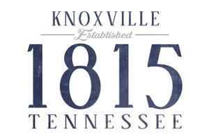 Knoxville, Tennessee - Established Date (Blue) by Lantern Press