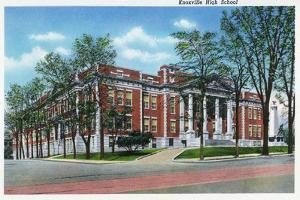 Knoxville, Tennessee - Exterior View of Knoxville High School by Lantern Press