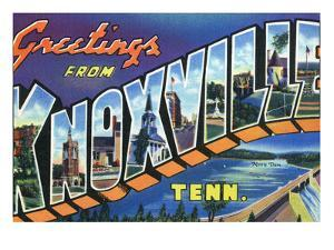 Knoxville, Tennessee - Large Letter Scenes by Lantern Press