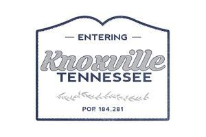 Knoxville, Tennessee - Now Entering (Blue) by Lantern Press