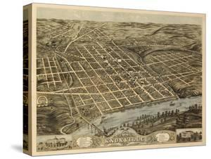Knoxville, Tennessee - Panoramic Map by Lantern Press