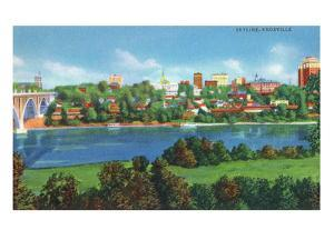 Knoxville, Tennessee - Panoramic View of the City Skyline by Lantern Press