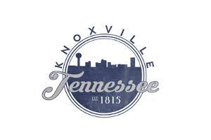 Knoxville, Tennessee - Skyline Seal (Blue) by Lantern Press