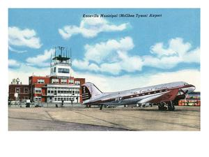Knoxville, Tennessee - View of the Knoxville Municipal (McGhee Tyson) Airport by Lantern Press