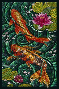 Koi - Paper Mosaic by Lantern Press