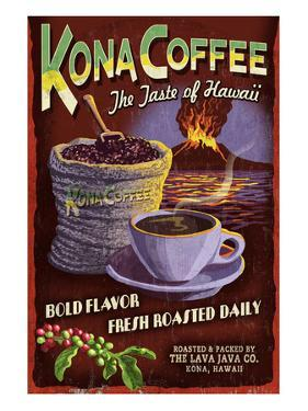 Kona Coffee - Hawaii by Lantern Press