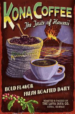 Kona Coffee - Hawaii by Lantern Press