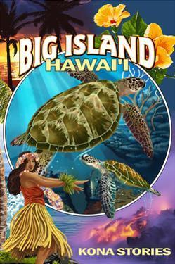 Kona, Hawaii - Big Island Montage by Lantern Press