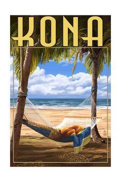 Kona, Hawaii - Hammock and Palms by Lantern Press