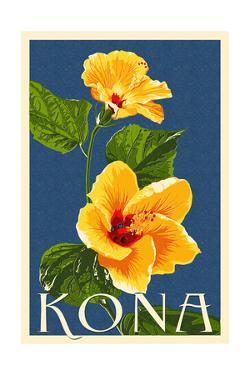 Kona, Hawaii - Yellow Hibiscus by Lantern Press