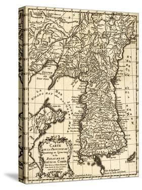 Korea - Panoramic Map by Lantern Press