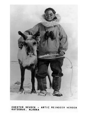 Kotzebue, Alaska - Chester Seveck, Arctic Reindeer Herder by Lantern Press