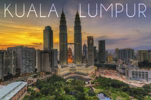 Kuala Lumpur, Malaysia - Skyline at Sunset by Lantern Press