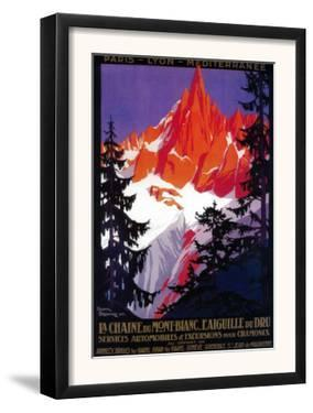 La Chaine De Mont-Blanc Vintage Poster - Europe by Lantern Press