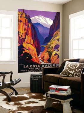 La Cote D'Azur Vintage Poster - Europe by Lantern Press