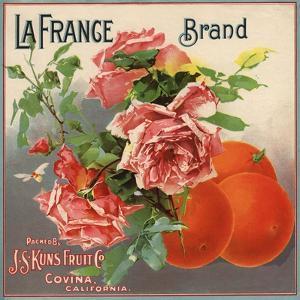 La France Brand - Covina, California - Citrus Crate Label by Lantern Press