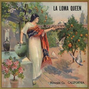La Loma Queen Brand - Riverside, California - Citrus Crate Label by Lantern Press