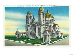 Lackawanna, New York - Exterior View of the Shrine of our Lady of Victory by Lantern Press
