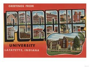 Lafayette, Indiana - Purdue University by Lantern Press