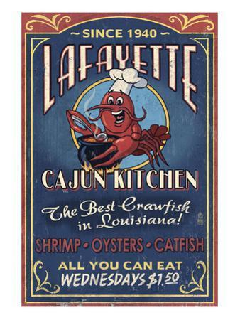 Lafayette, Louisiana - Cajun Kitchen by Lantern Press