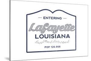 Lafayette, Louisiana - Now Entering (Blue) by Lantern Press