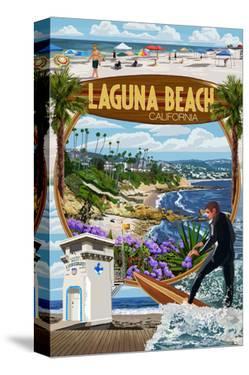 Laguna Beach, California - Montage Scenes by Lantern Press