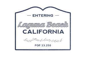 Laguna Beach, California - Now Entering (Blue) by Lantern Press