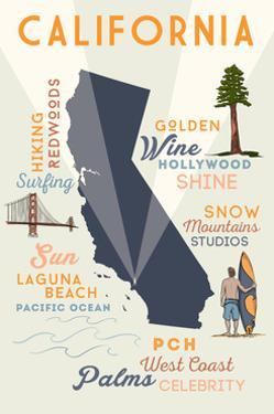 Laguna Beach, California - Typography and Icons by Lantern Press