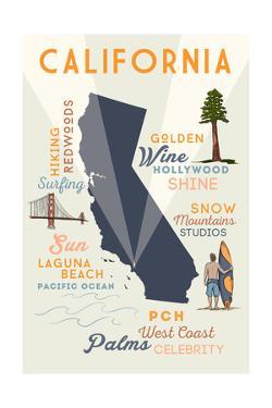 Laguna Beach, California - Typography and Icons by Lantern Press