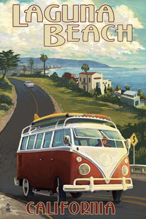 Laguna Beach, California - VW Van Cruise by Lantern Press