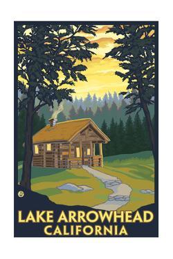Lake Arrowhead, California -Cabin in the Woods by Lantern Press